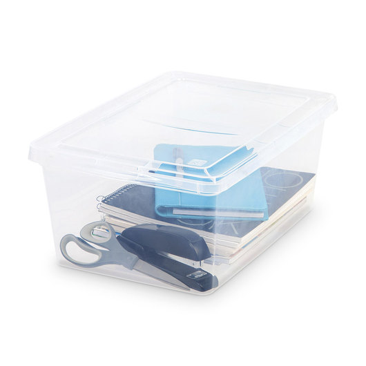 Non-latching Storage Box - 17-Qt. - 17-1/2 in. L x 12 in. W x 7 in. H