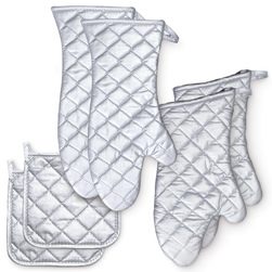 Silicone Oven/Freezer Mitts and Potholders - Set of 3