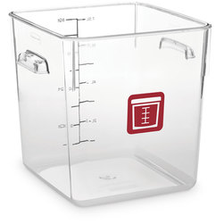 Rubbermaid® Square Container 8-Qt. - Clear/Red
