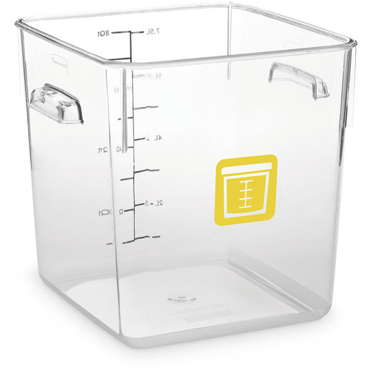 Rubbermaid® Square Container 8-Qt. - Clear/Yellow