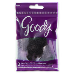 Goody® Hair Nets - Pack of 18 total ( 6 pkg. of 3) - Black