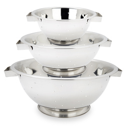 Stainless Steel Colanders - Set of 3