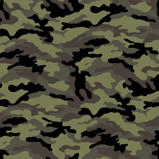 Novelty Print Fabric by the Bolt - Camouflage