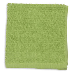 Terry Dishcloths - Pack of 12 - Green