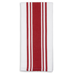 Centerband Dish Towels - Pack of 6 - Red/White