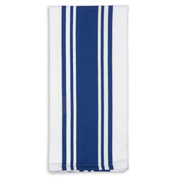 Centerband Dish Towels - Pack of 6 - Blue/White