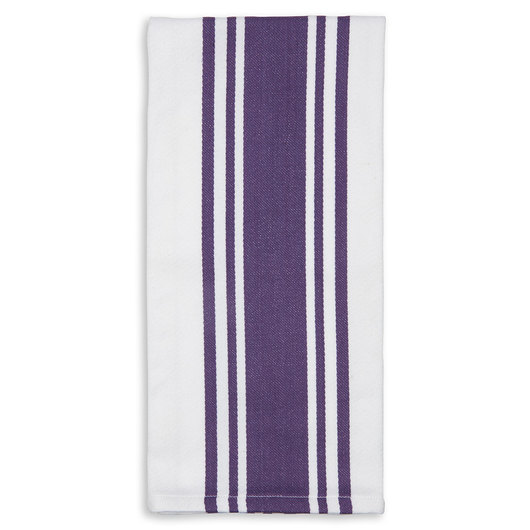 Centerband Dish Towels - Pack of 6 - Purple/White