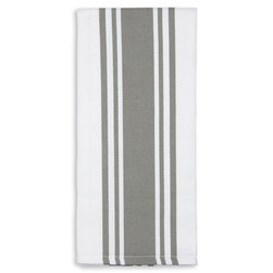 Centerband Dish Towels - Pack of 6 - Gray/White