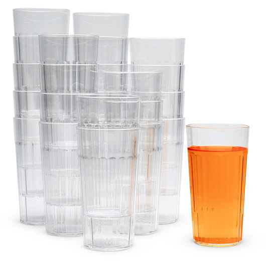Clear Plastic Tumblers - Set of 20