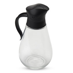 Glass Syrup Dispenser - BPA-Free Lid - 18.5 oz.