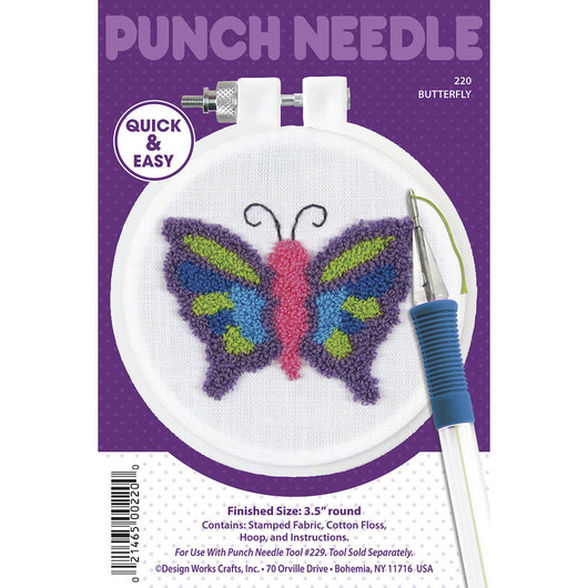 Punch Needle Embroidery Kit - Butterfly
