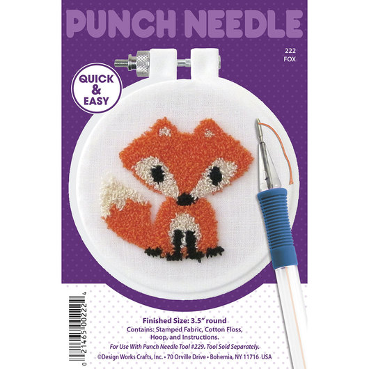 Punch Needle Embroidery Kit - Fox