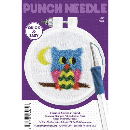 Punch Needle Embroidery Kit - Owl