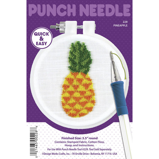 Punch Needle Embroidery Kit - Pineapple
