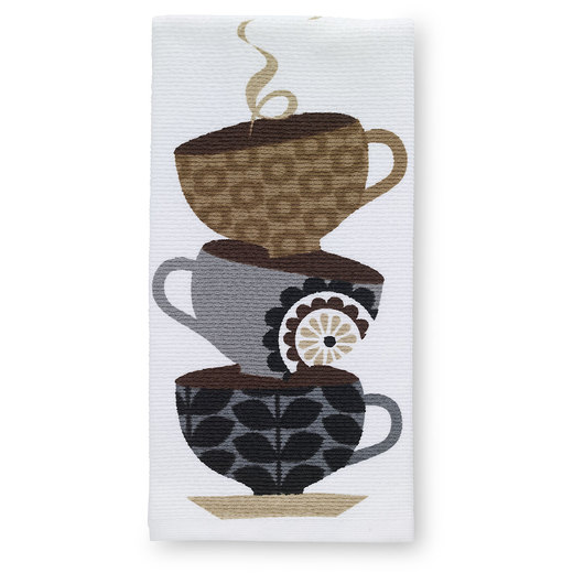 T-fal® Kitchen Towel - Prints - Coffee Cup - 16 in. x 26 in.