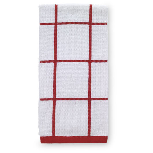 T-fal® Kitchen Towel - Checked Parquet - Red - 16 in. x 26 in.