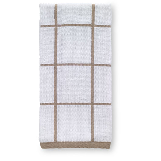 T-fal® Kitchen Towel - Checked Parquet - Sand - 16 in. x 26 in.