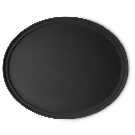 Cambro® Camtrays® - Oval Serving Tray - Black - 22 in. x 27 in.