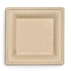 Eco-Friendly Containers - Square Plates - 6 in. - Case of 500