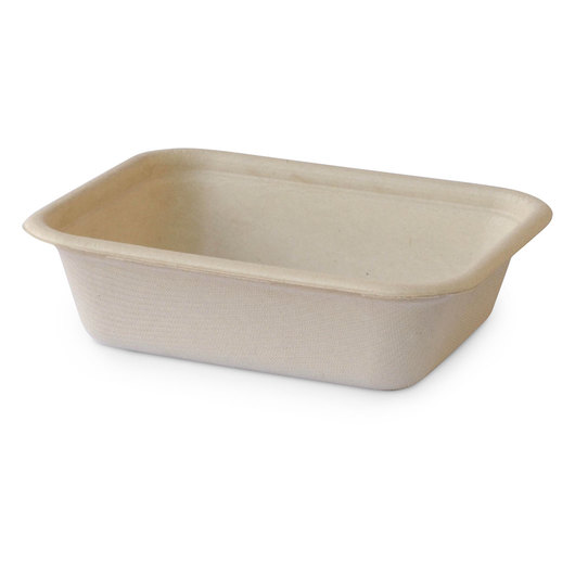 Eco-Friendly Containers - Rectangular Trays - 6 in. x 5 in. - Case of 500