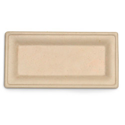 Eco-Friendly Containers - Rectangular Plates - 5 in. x 10 in. - Case of 500