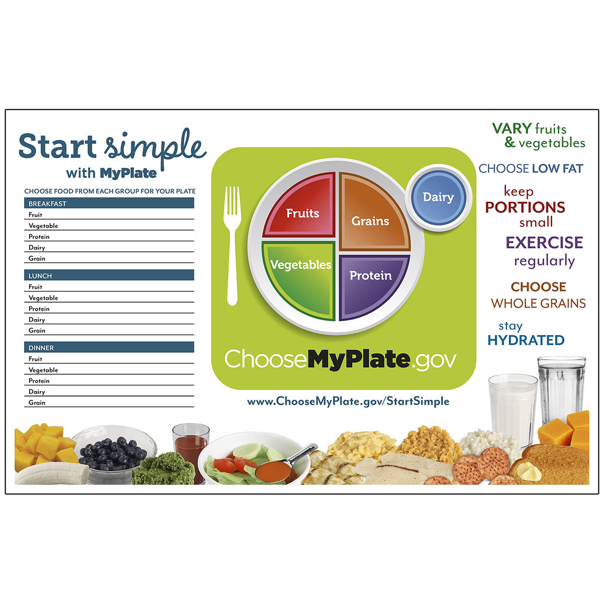 Start Simple with MyPlate TearPad™ - WA35399