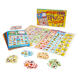 MyPlate Food Bingo, Featuring Build a Healthy Meal Challenge