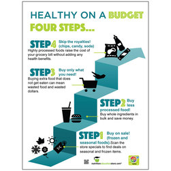 4 Steps to Healthy on a Budget Poster