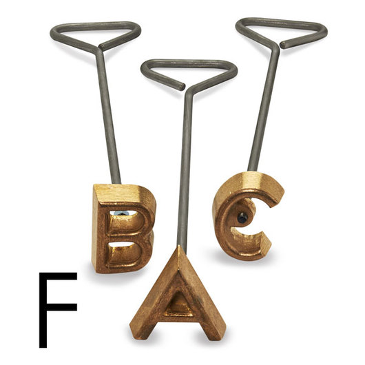 Freeze Branding Iron with Single Standard Letter F - 2 in. High, 1/4 in. Face
