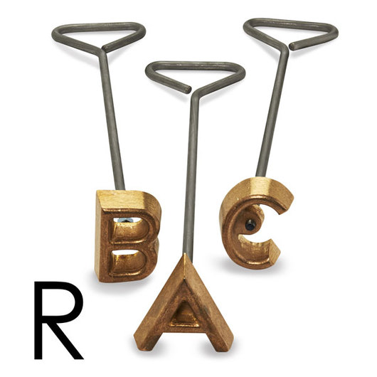 Freeze Branding Iron with Single Standard Letter R - 2 in. High, 1/4 in. Face