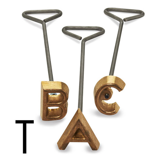 Freeze Branding Iron with Single Standard Letter T - 2 in. High, 1/4 in. Face
