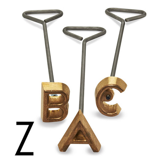 Freeze Branding Iron with Single Standard Letter Z - 2 in. High, 1/4 in. Face