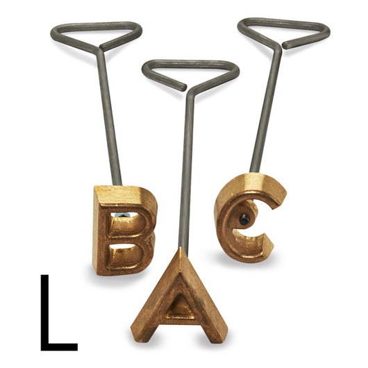 Freeze Branding Iron with Single Standard Letter L - 3-1/2 in. High, 3/8 in. Face