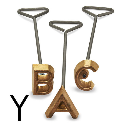 Freeze Branding Iron with Single Standard Letter Y - 3-1/2 in. High, 3/8 in. Face
