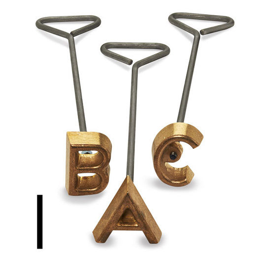 Freeze Branding Iron with Single Standard Letter I - 4 in. High, 3/8 in. Face