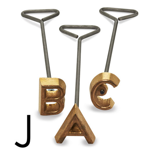 Freeze Branding Iron with Single Standard Letter J - 4 in. High, 3/8 in. Face