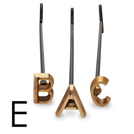 4 Heavy-Duty Copper Branding Iron - Letter E