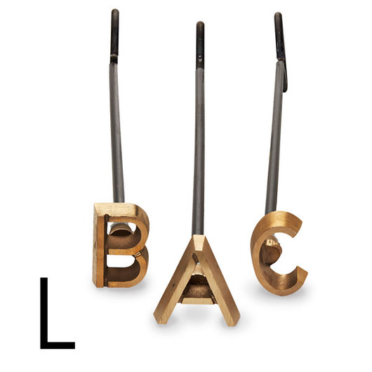 4 in. Heavy-Duty Copper Branding Iron - Letter L