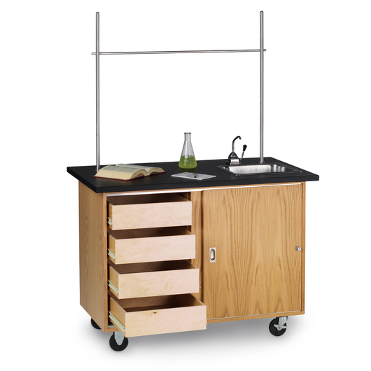 Mobile Demonstration Table with Drawers - 48 xNo 28 x 36