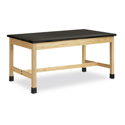 Shain Plain Apron Table with 10.25 Plastic Laminate Tabletop