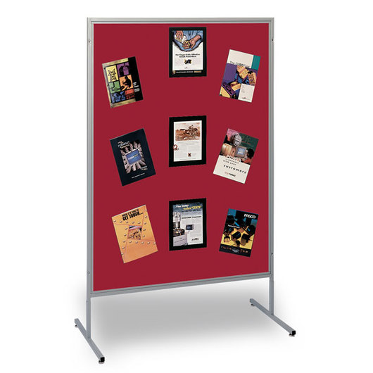 The Miller Group Multiplex® Panel - 48 in. W x 66 in. H - Red Fabric