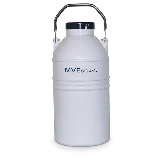 MVE Liquid Nitrogen Freezer - Vapor Shipper Model SC 4/2V, Jug with Canister