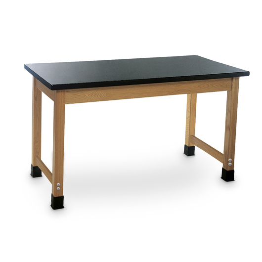 24 in. x 60 in. Oak Student Table w/Plastic Laminate Top - Plain Apron Student Table - 30 in. H