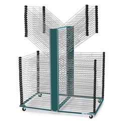 Saturn Tensor-18 Double-Sided Drying Rack - 80 Shelves - 54 in. D x 25 in. W x 45 in. H