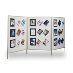 The Miller Group Multiplex® Display and Exhibit System - Blue Fabric-Covered Panels