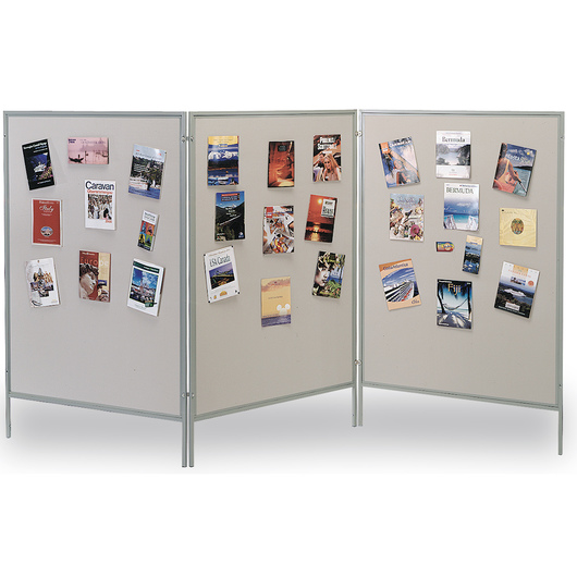 The Miller Group Multiplex® Display and Exhibit System - Gray Vinyl-Covered Panels