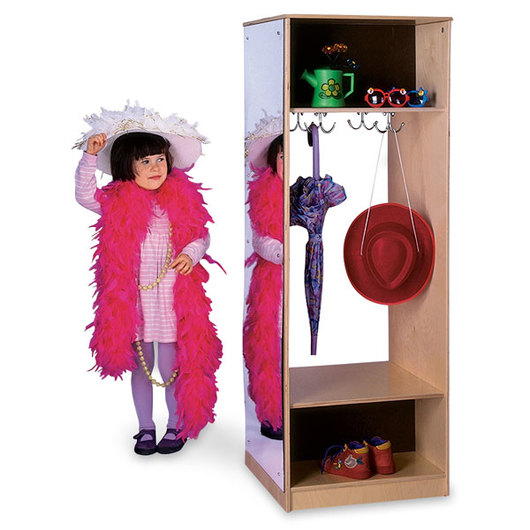Whitney Brothers® Wardrobe with Mirror