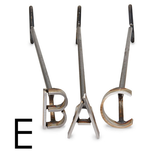 L & H Stainless Steel Branding Iron - 3 in. Single Letter E