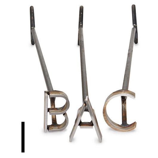 L & H Stainless Steel Branding Iron - 3 in. Single Letter I