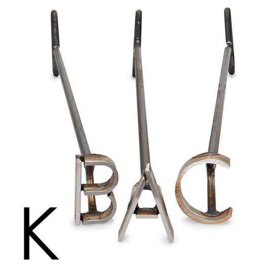 L & H Stainless Steel Branding Iron - 3 in. Single Letter K